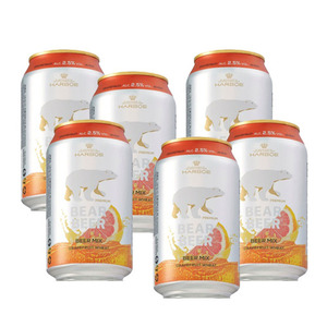 Bear Beer Mix Grapefruit Wheat 6 Pack (330ml per Can)
