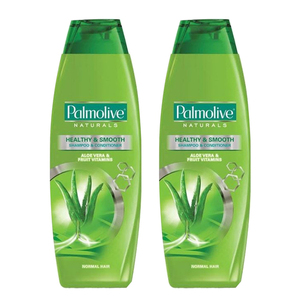 Palmolive Naturals Healthy & Smooth Shampoo 2 Pack (400ml per pack)
