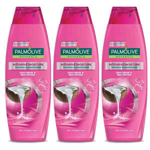 Palmolive Naturals Intensive Moisture Shampoo 3 Pack (400ml per pack)