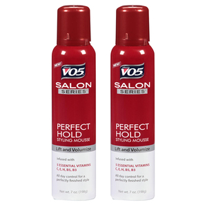 VO5 Perfect Hold Styling Mousse 2 Pack (198g per pack)