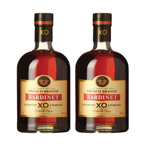 Bardinet XO 6 Year Old French Brandy 2 Pack (700ml per Bottle)