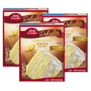 Betty Crocker Super Moist Cake Mix Lemon 3 Pack (432g per Pack)