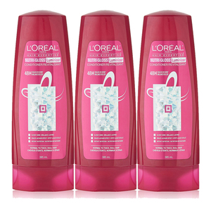 Loreal Paris Advanced Haircare Nutri-Gloss Conditioner 3 Pack (385ml per pack)