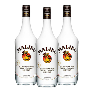 Malibu Original Caribbean Rum 3 Pack (750ml per Bottle)