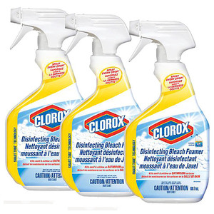 Clorox Disinfecting Bleach Foamer 3 Pack (887ml per Bottle)