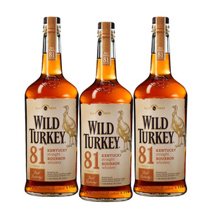 Wild Turkey 81 Kentucky Straight Bourbon Whisky 3 Pack (750ml per Bottle)