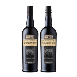 Old Ballantruan 'The Peated Malt' Single Malt Scotch Whisky 2 Pack (700ml per Bottle)