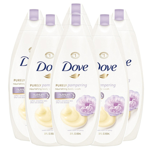 Dove Purely Pampering Sweet Cream and Peony Body Wash 6 Pack (709.7ml per pack)