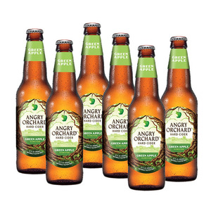 Angry Orchard Green Apple Hard Cider 6 Pack (355ml per Bottle)