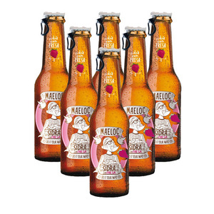 Maeloc Sidra Con Fresa Hard Cider Flavours 6 Pack (330ml per Bottle)