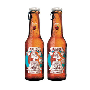 Maeloc Sidra Con Seca Hard Cider Dry 2 Pack (330ml per Bottle)