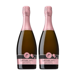 Yellow Tail Pink Bubbles Sparkling Wine 2 Pack (750ml per Bottle)