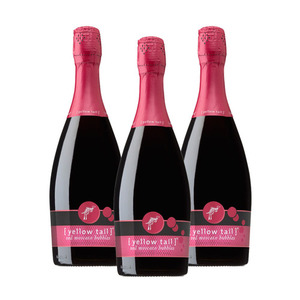 Yellow Tail Red Moscato Bubbles Sparkling Wine 3 Pack (750ml per Bottle)