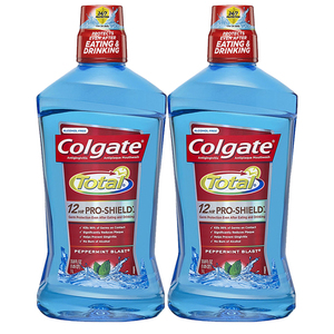 Colgate Total Pro-Shield Peppermint Blast Mouthwash 2 Pack (1L per pack)