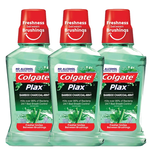 Colgate Plax Bamboo Charcoal Mint Mouthwash 3 Pack (250ml per pack)