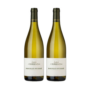 J. Moreau & Fils Pouilly-Fuisse White Wine 2 Pack (750ml per Bottle)