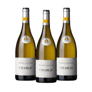 Pasquier Desvignes Chablis White Wine 3 Pack (750ml per Bottle)