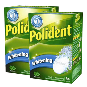 Polident Fresh Cleanse Whitening 2 Pack (84's per pack)