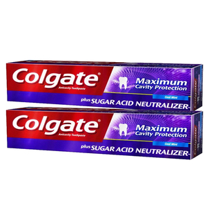 Colgate Maximum Cavity Protection Whitening Toothpaste 2 Pack (122ml per pack)