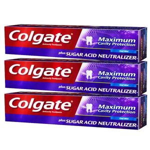 Colgate Maximum Cavity Protection Whitening Toothpaste 3 Pack (122ml per pack)