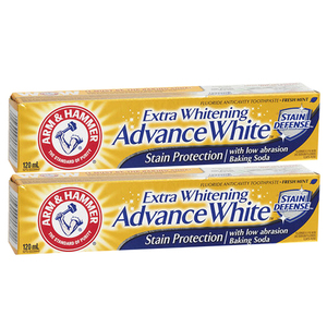 Arm & Hammer Extra Whitening Advance White Stain Protection Toothpaste 2 Pack (120ml per pack)