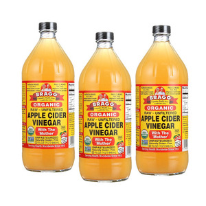 Bragg Organic Apple Cider Vinegar 3 Pack (946ml per Bottle)