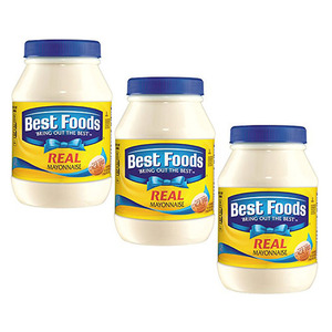 Best Foods Real Mayonnaise 3 Pack (1kg per Bottle)