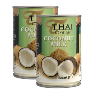 Thai Heritage Coconut Milk 2 Pack (400ml per can)