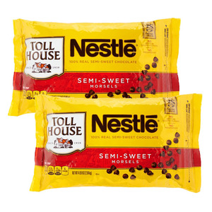 Nestle Toll House Semi-Sweet Chocolate Morsels 2 Pack (2kg per Pack)