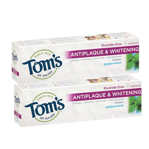 Tom's of Maine Peppermint Antiplaque and Whitening Toothpaste 2 Pack (85ml per pack)