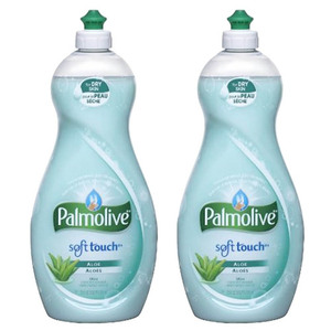 Palmolive Soft Touch Aloe Dish Liquid 2 Pack (739ml per Pack)
