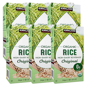 Kirkland Signature Organic Rice Non-Dairy Milk 6 Pack (946ml per pack)