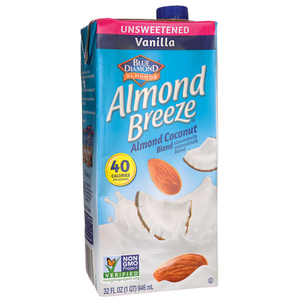 Blue Diamond Almond Breeze Unsweetened Vanilla 946ml