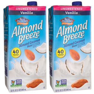 Blue Diamond Almond Breeze Unsweetened Vanilla 2 Pack (946ml per pack)