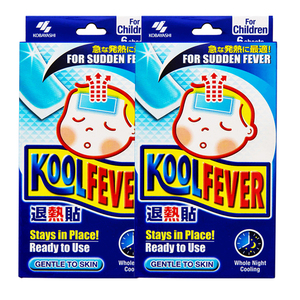 KOBAYASHI Koolfever Cooling Gel Sheets For Sudden Fever 2 Pack (6's per pack)
