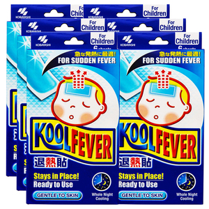 KOBAYASHI Koolfever Cooling Gel Sheets For Sudden Fever 6 Pack (6's per pack)