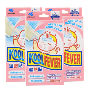 KOBAYASHI Koolfever Cooling Gel Sheets Gentle For Skin 3 Pack (6's per pack)