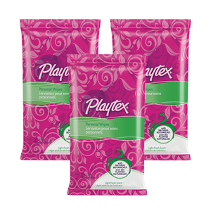 Playtex Light Fresh Scent Personal Wipes 3 Pack (48ct per Pack)