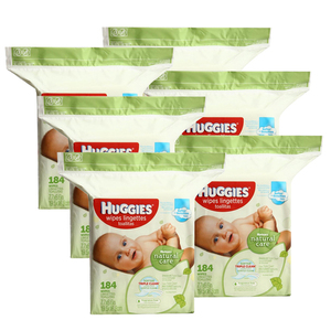 Huggies Natural Care Wipes Lingettes 6 Pack (184's per Pack)