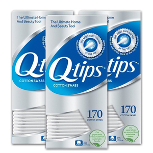 Q-Tips Cotton Swabs 3 Pack (170's per pack)