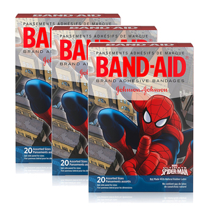 Band-Aid Adhesive Bandages Spider Man Collection 3 Pack (20's per pack)