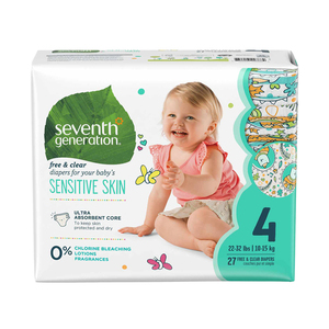 Seventh Generation Free & Clear Baby Diapers Size-4 27ct