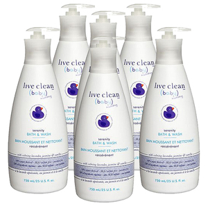 Live Clean Baby Calming Bedtime Bubble Bath and Wash 6 Pack (750ml per pack)