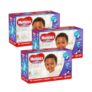 Huggies Little Movers Diapers Size-6 3 Pack (120's per Pack)