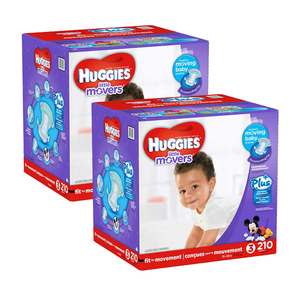 Huggies Little Movers Diapers Size-3 2 Pack (210's per Pack)