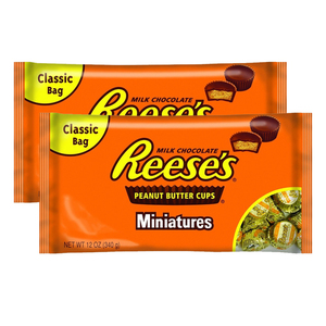 Hershey's Reese's Milk Chocolate Peanut Butter Cups Miniatures 2 Pack (340g per pack)