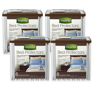 Depend Bed Protectors 4 Pack (8's per Pack)