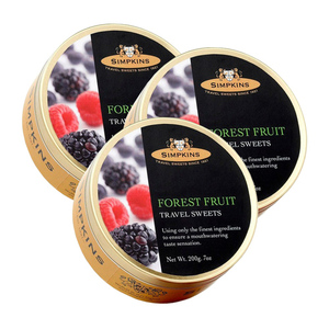 Simpkins Forest Fruit Travel Sweet 3 Pack (200g per Can)