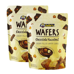 Julie's Chocolate Hazelnut Wafers 2 Pack (150g per Pack)