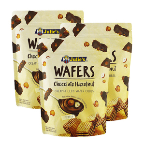 Julie's Chocolate Hazelnut Wafers 3 Pack (150g per Pack)